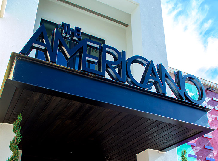 The Americano Restaurant front entrance